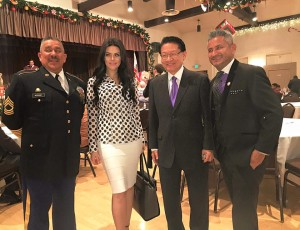 With Honorable Mike Eng
